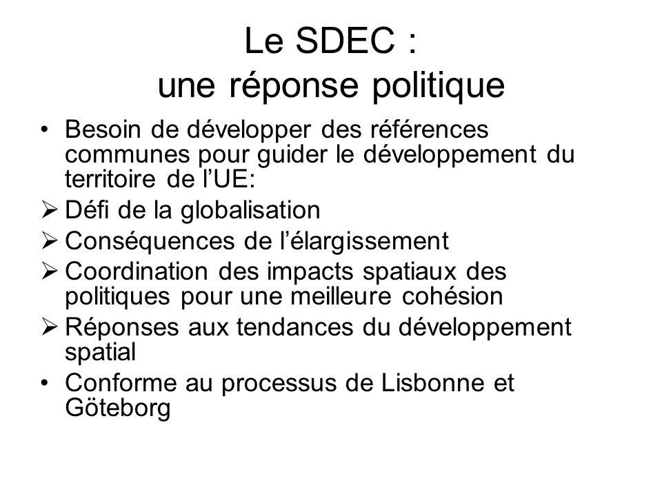 Le SDEC : une réponse politique