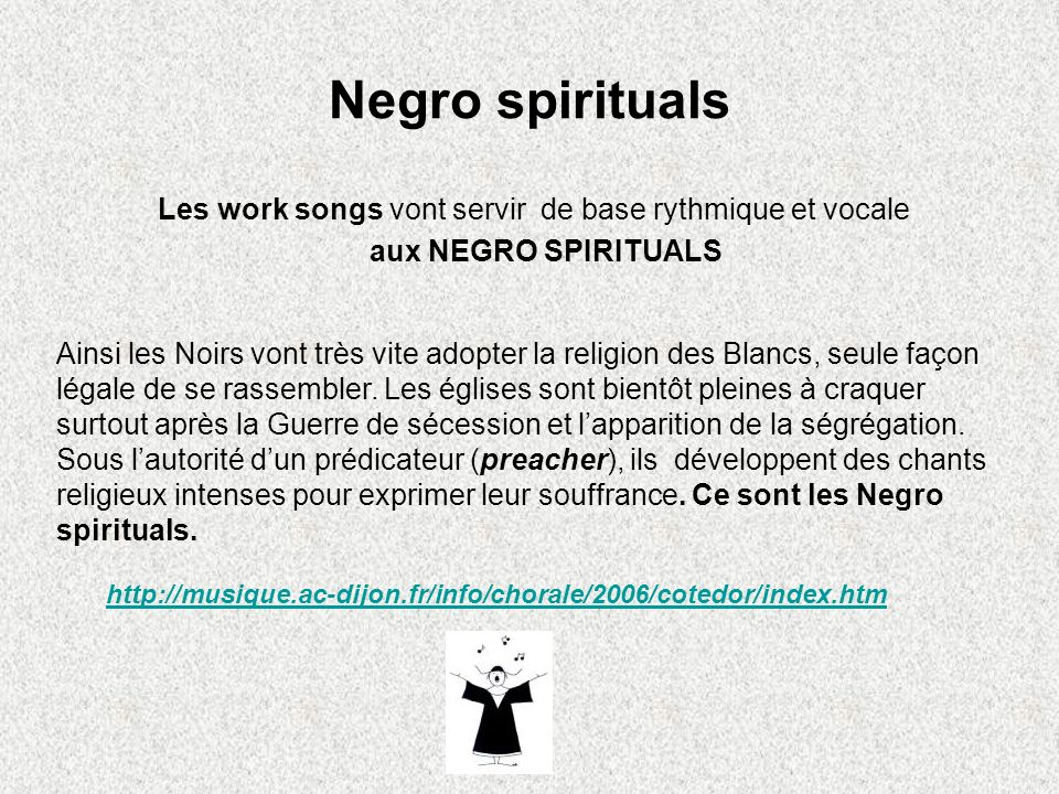 Les work songs vont servir de base rythmique et vocale