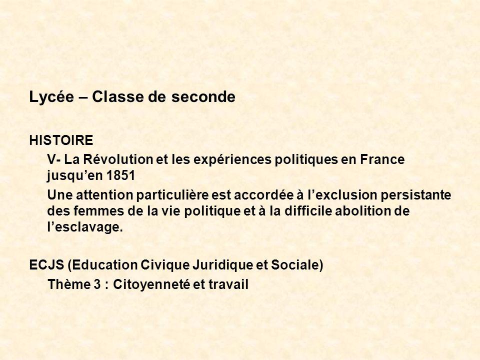 Lycée – Classe de seconde
