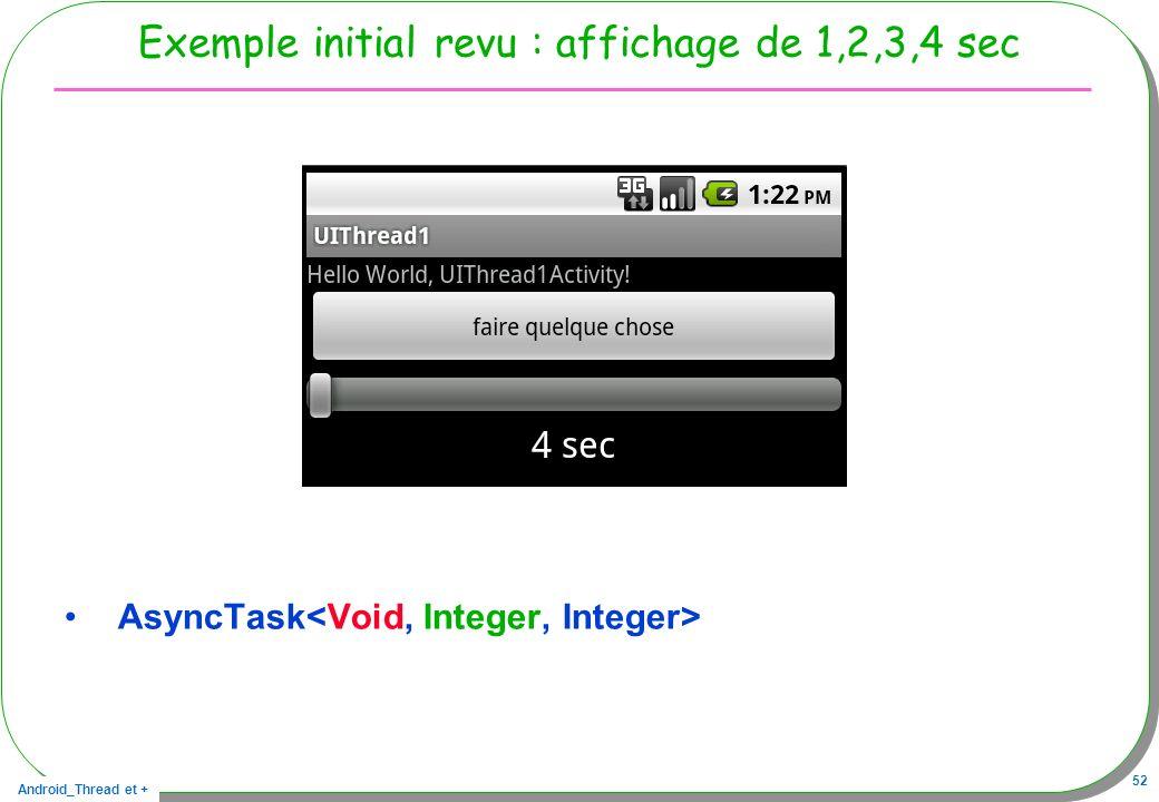 Exemple initial revu : affichage de 1,2,3,4 sec