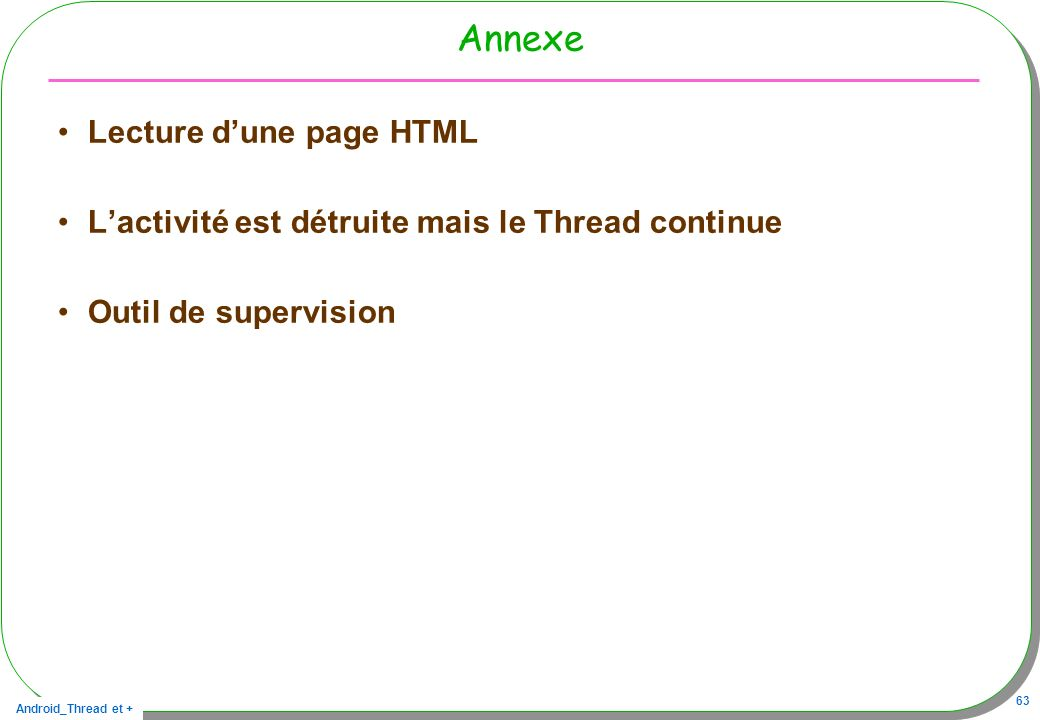Annexe Lecture d'une page HTML