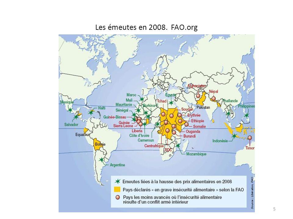 Les émeutes en 2008. FAO.org
