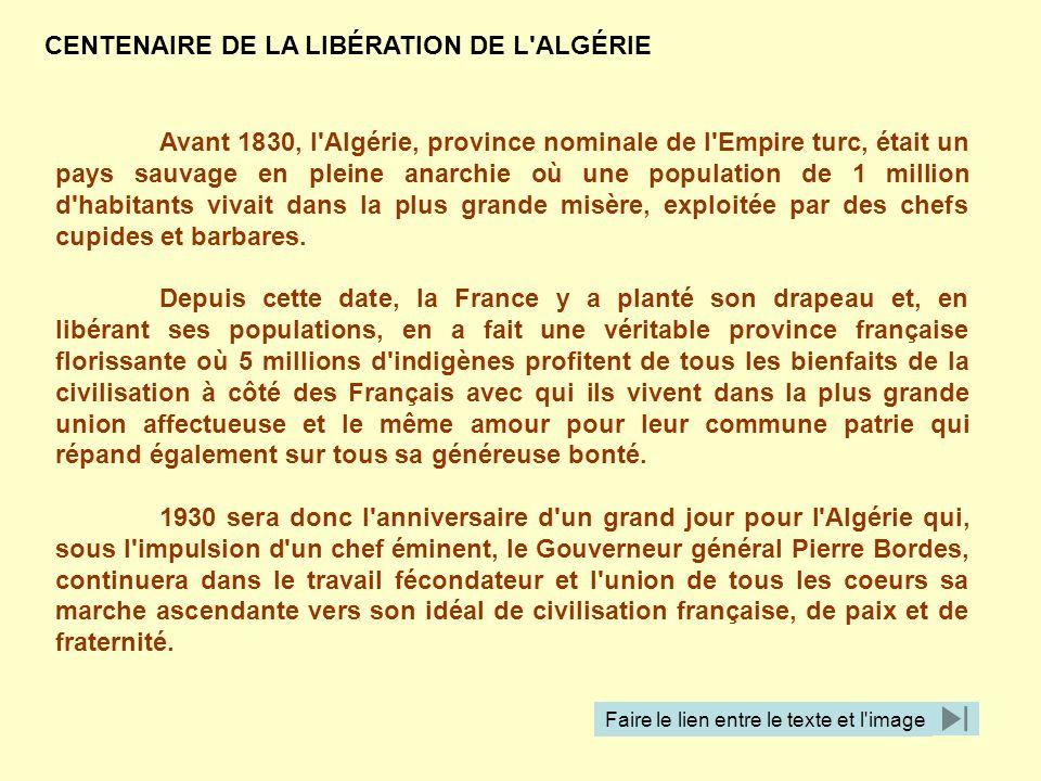 CENTENAIRE DE LA LIBÉRATION DE L ALGÉRIE