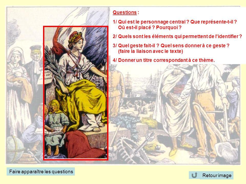 Questions : 1/ Qui est le personnage central Que représente-t-il Où est-il placé Pourquoi