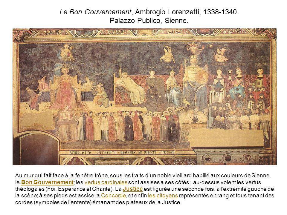 Le Bon Gouvernement, Ambrogio Lorenzetti, 1338-1340.