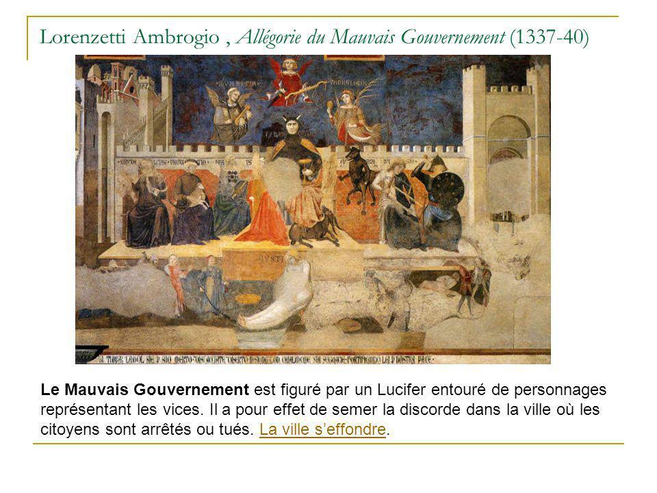 Lorenzetti Ambrogio , Allégorie du Mauvais Gouvernement (1337-40)
