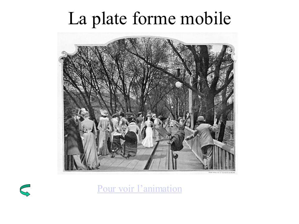 La plate forme mobile Pour voir l'animation