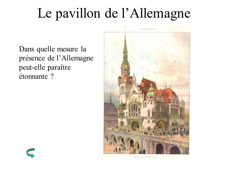 Le pavillon de l'Allemagne