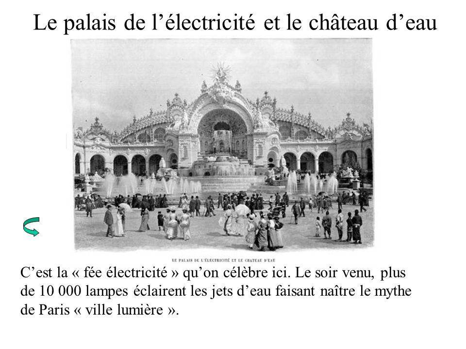 Le palais de l'électricité et le château d'eau