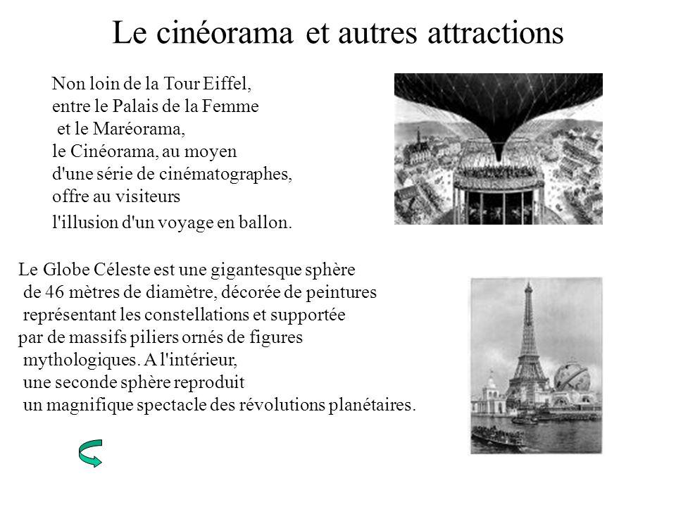 Le cinéorama et autres attractions