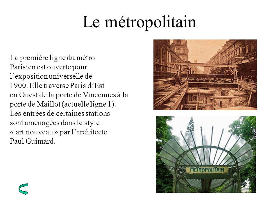 Le métropolitain La première ligne du métro Parisien est ouverte pour