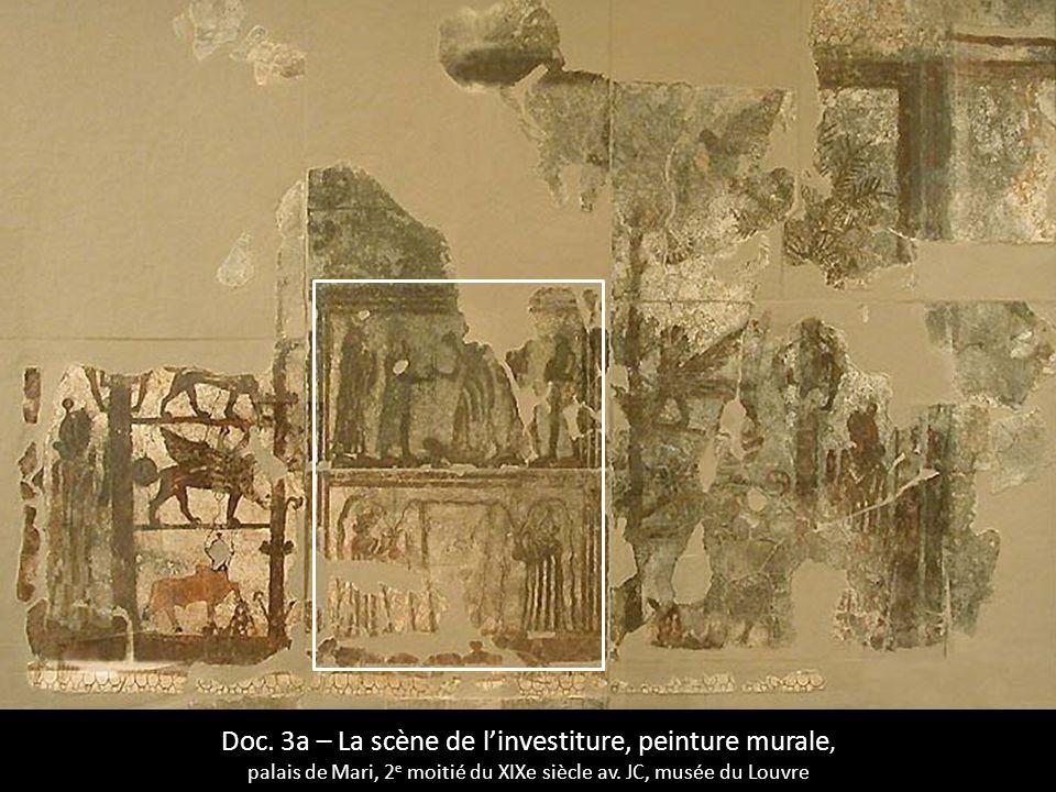 Doc. 3a – La scène de l'investiture, peinture murale,