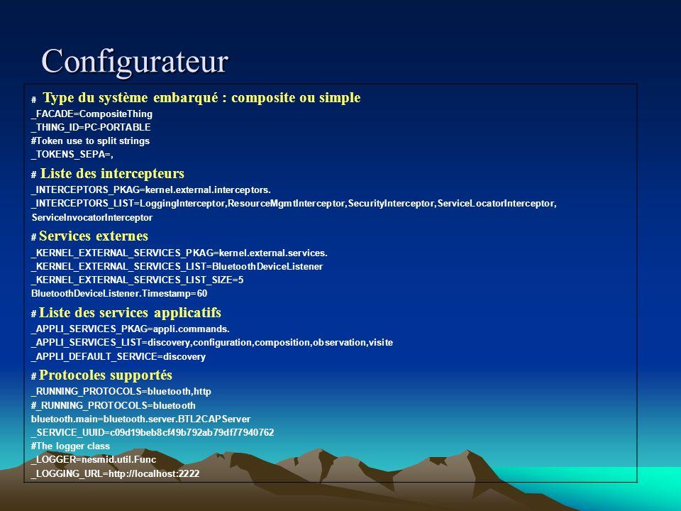Configurateur # Type du système embarqué : composite ou simple