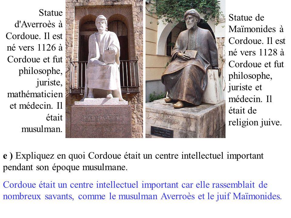 Statue d Averroès à Cordoue