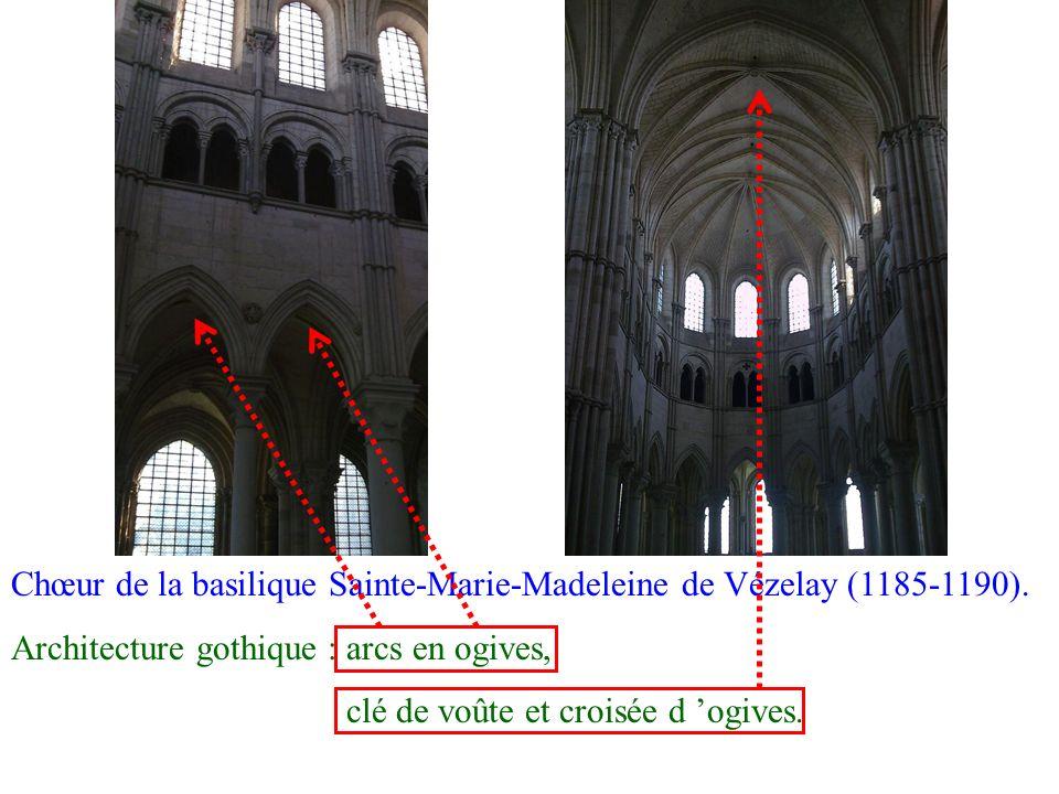 Chœur de la basilique Sainte-Marie-Madeleine de Vézelay (1185-1190).