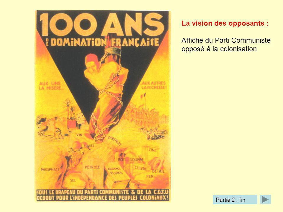 La vision des opposants : Affiche du Parti Communiste