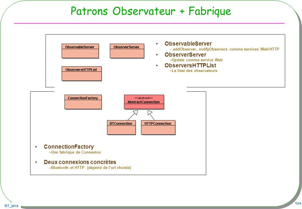 Patrons Observateur + Fabrique