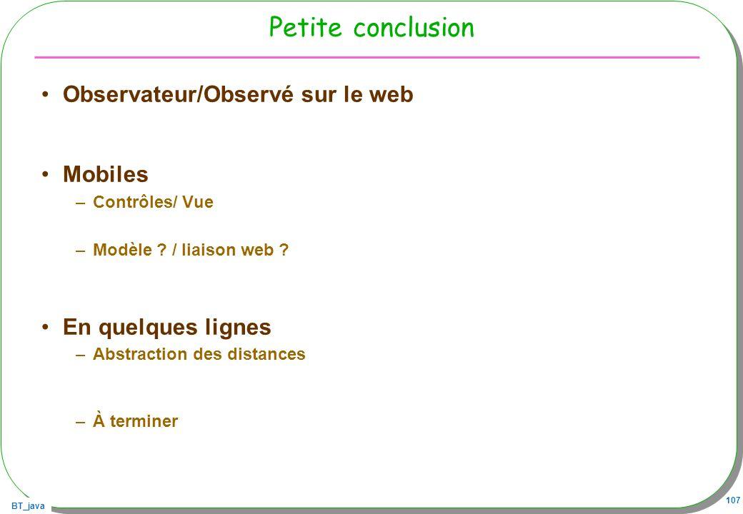 Petite conclusion Observateur/Observé sur le web Mobiles
