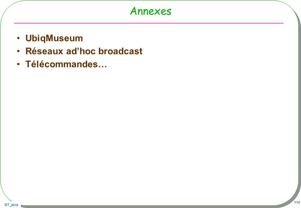 Annexes UbiqMuseum Réseaux ad'hoc broadcast Télécommandes…