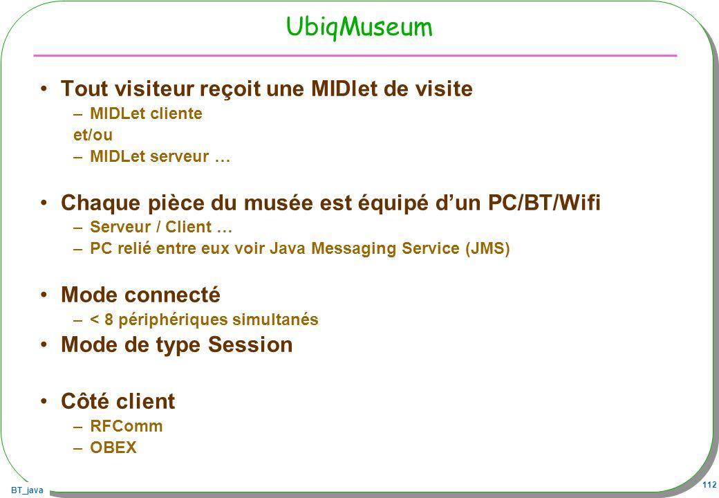 UbiqMuseum Tout visiteur reçoit une MIDlet de visite