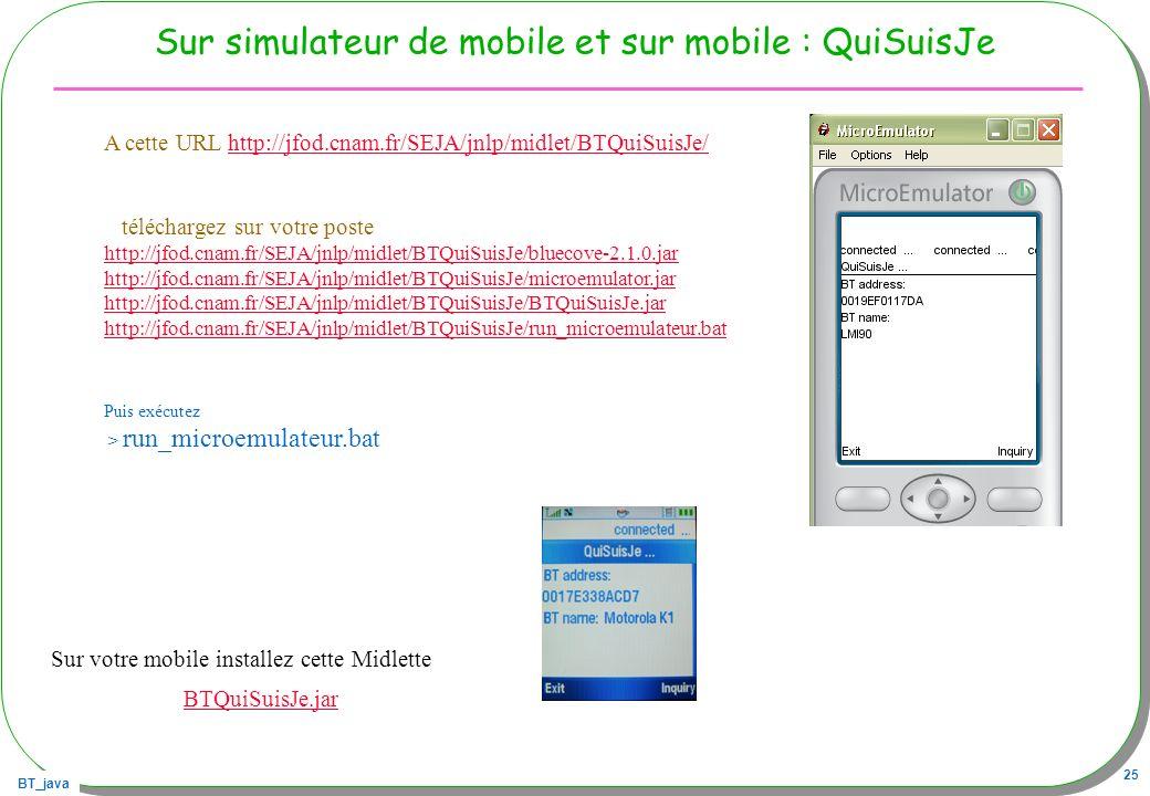 Sur simulateur de mobile et sur mobile : QuiSuisJe