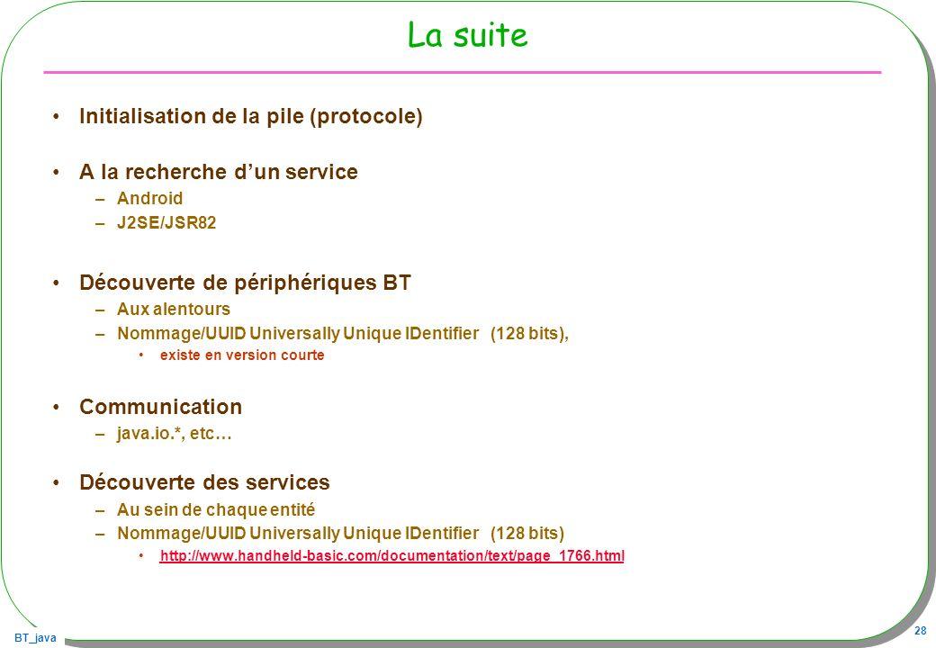La suite Initialisation de la pile (protocole)