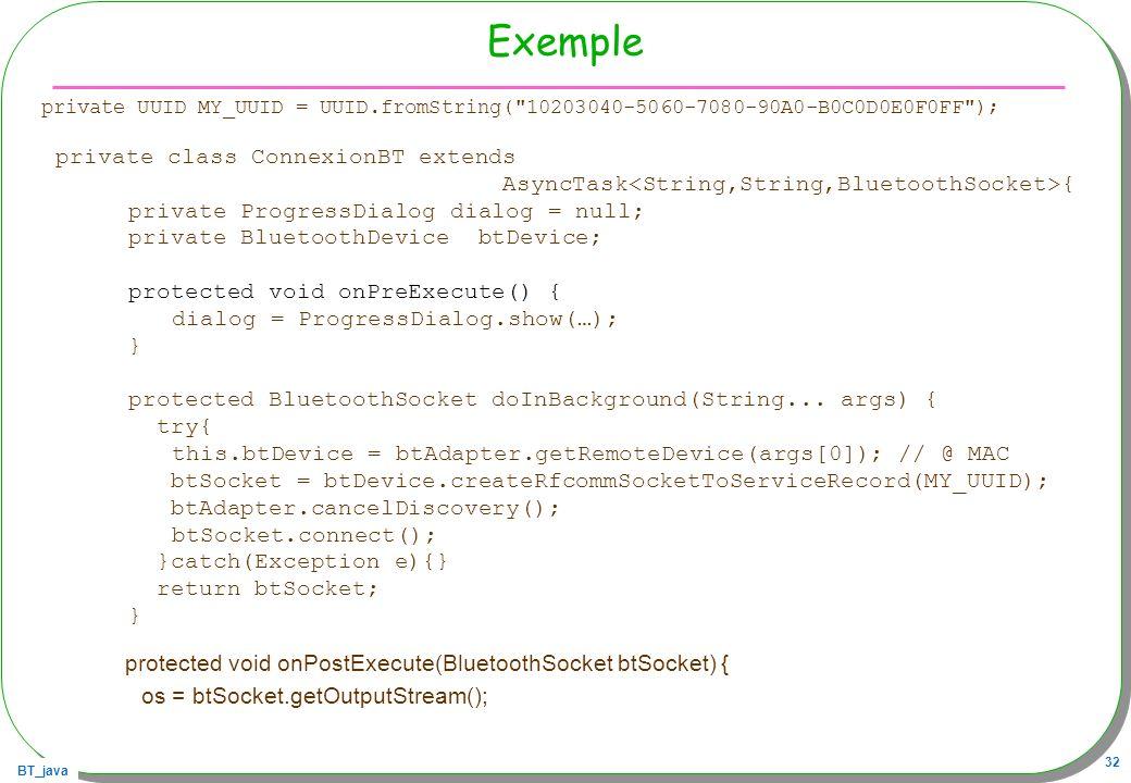 protected void onPostExecute(BluetoothSocket btSocket) {