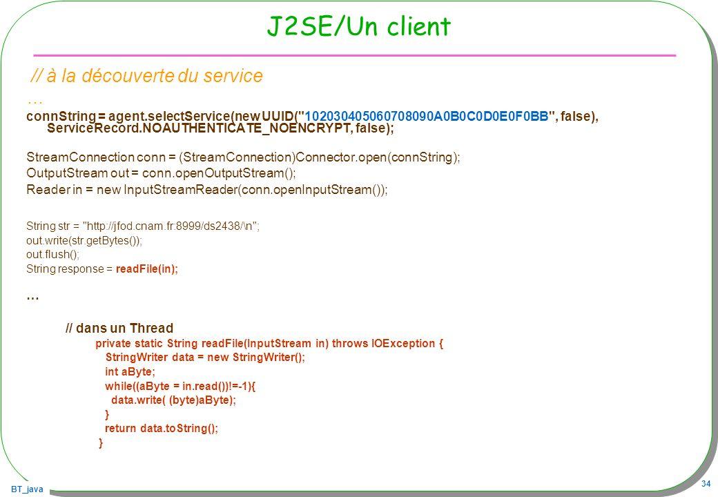 J2SE/Un client // à la découverte du service …
