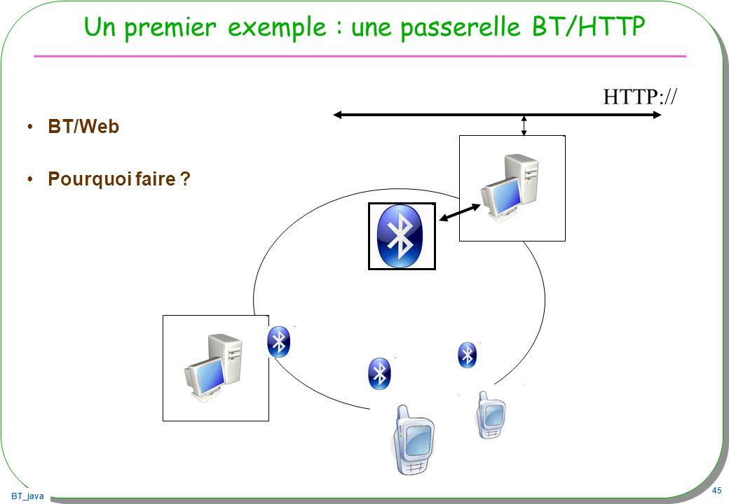 Un premier exemple : une passerelle BT/HTTP