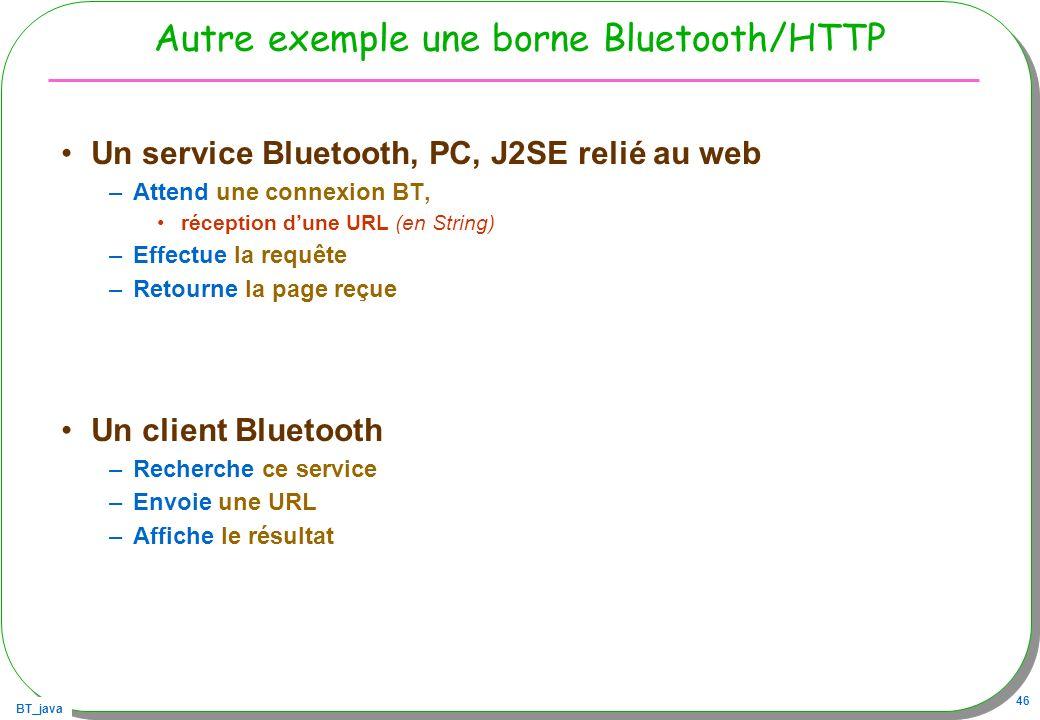 Autre exemple une borne Bluetooth/HTTP