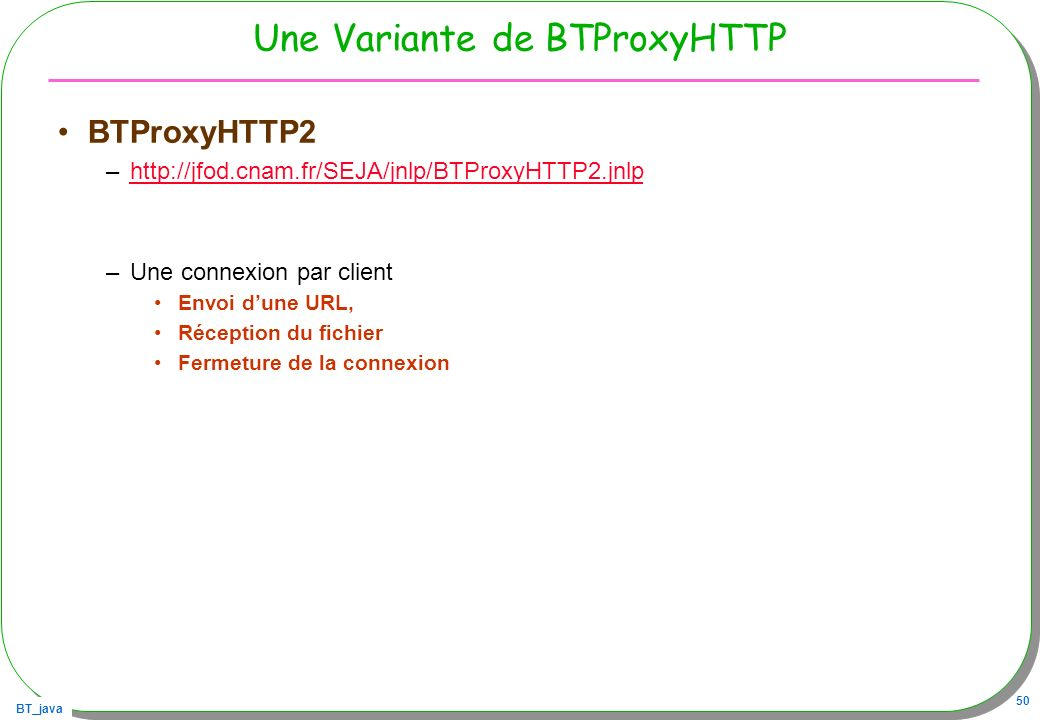 Une Variante de BTProxyHTTP
