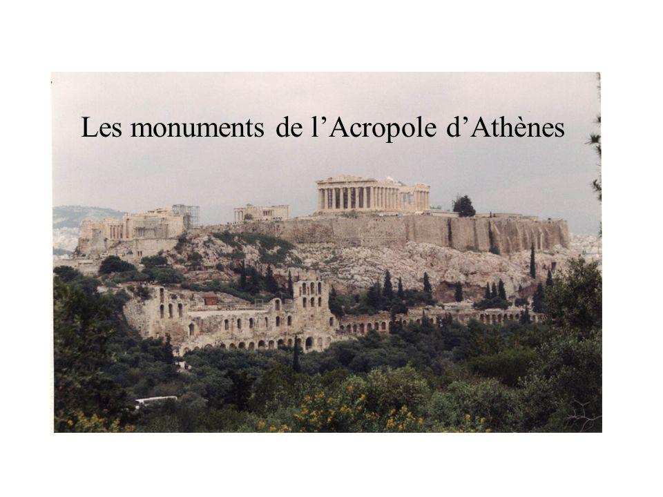 Les monuments de l'Acropole d'Athènes