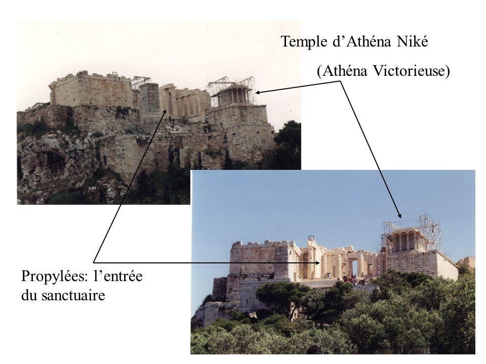 Temple d'Athéna Niké (Athéna Victorieuse) Propylées: l'entrée du sanctuaire