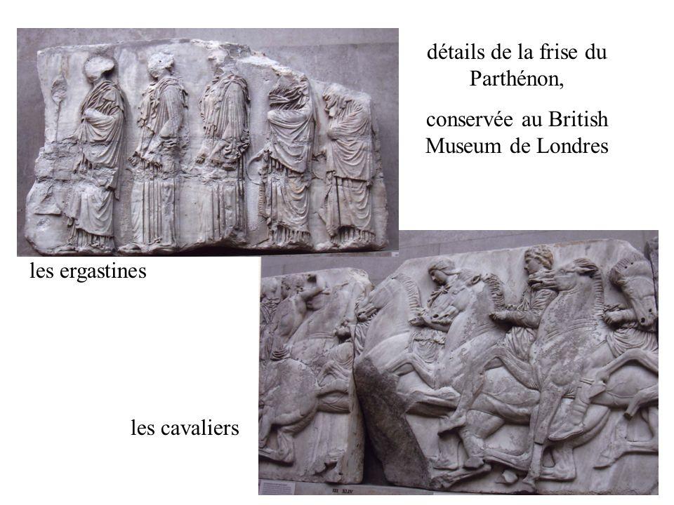 détails de la frise du Parthénon,