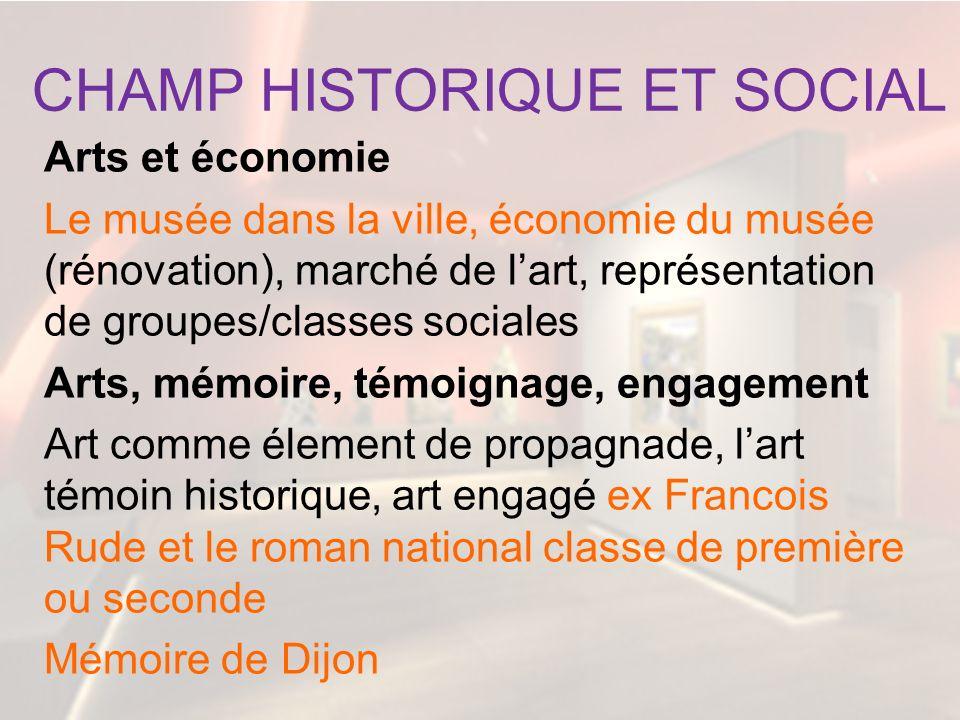 CHAMP HISTORIQUE ET SOCIAL