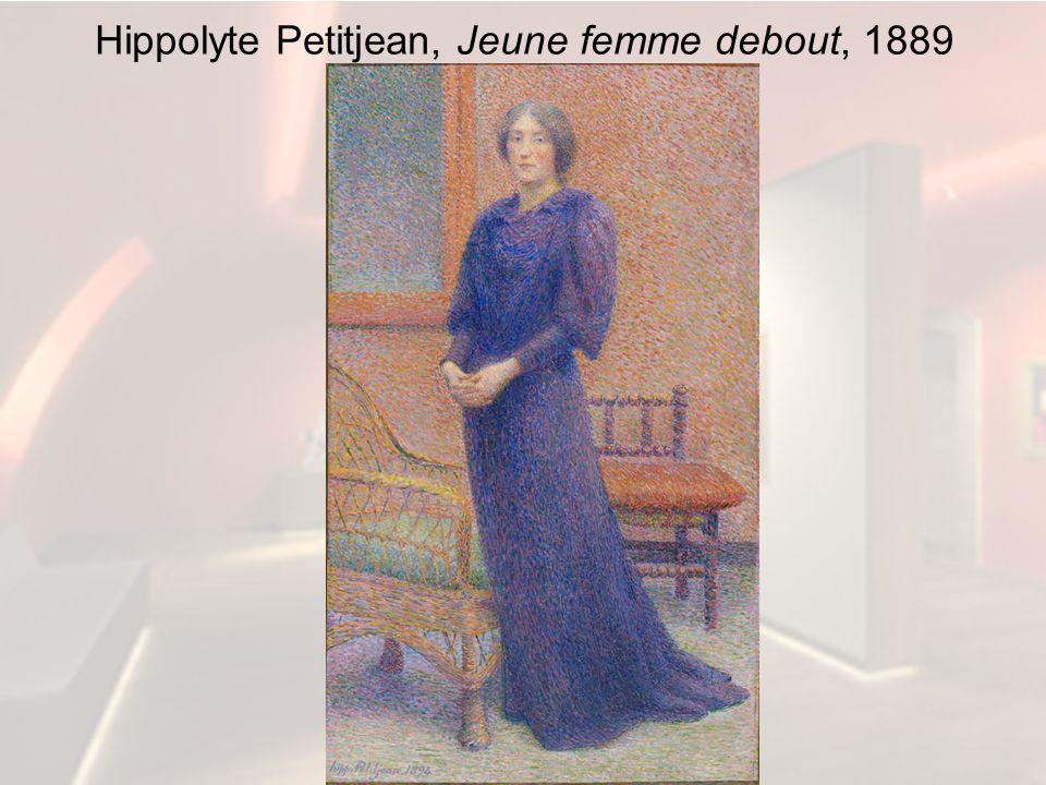 Hippolyte Petitjean, Jeune femme debout, 1889