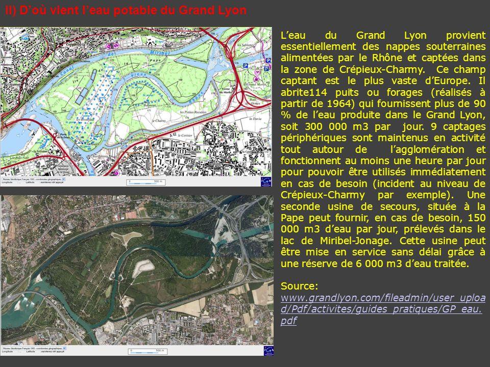 II) D'où vient l'eau potable du Grand Lyon