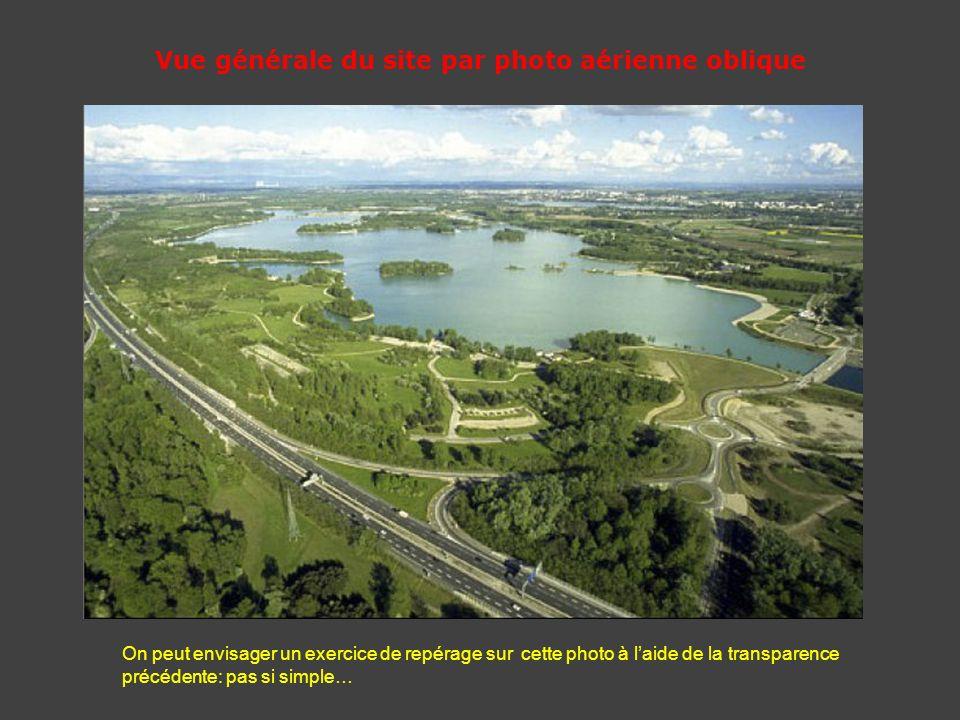 Vue générale du site par photo aérienne oblique