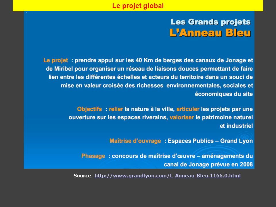 Le projet global Source