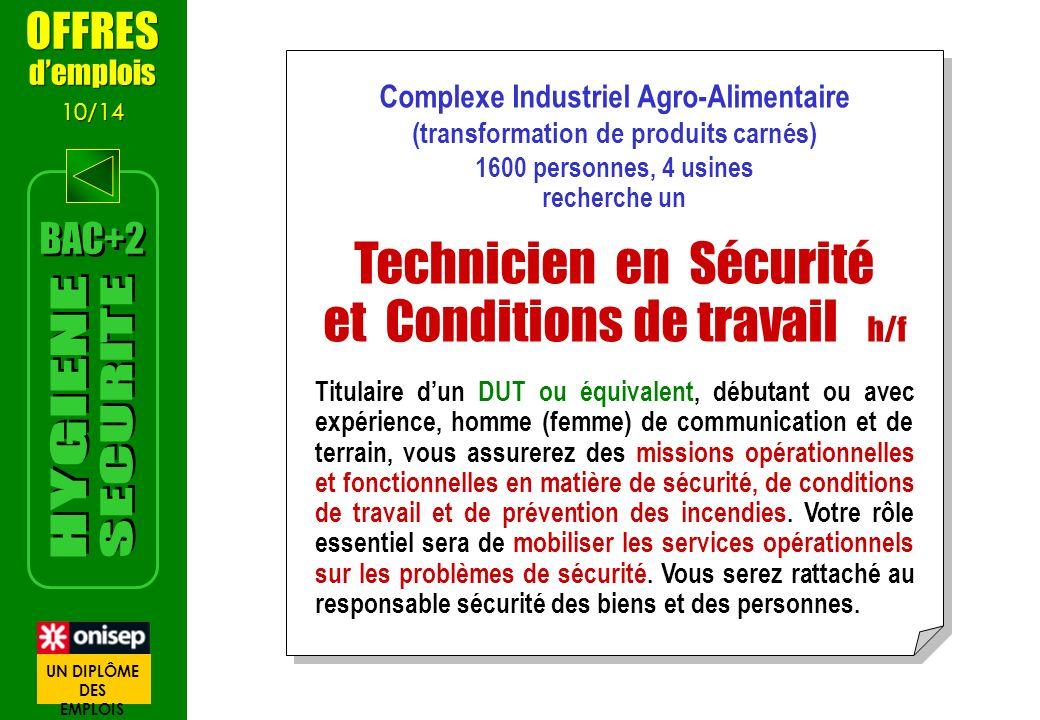 Technicien en Sécurité et Conditions de travail h/f