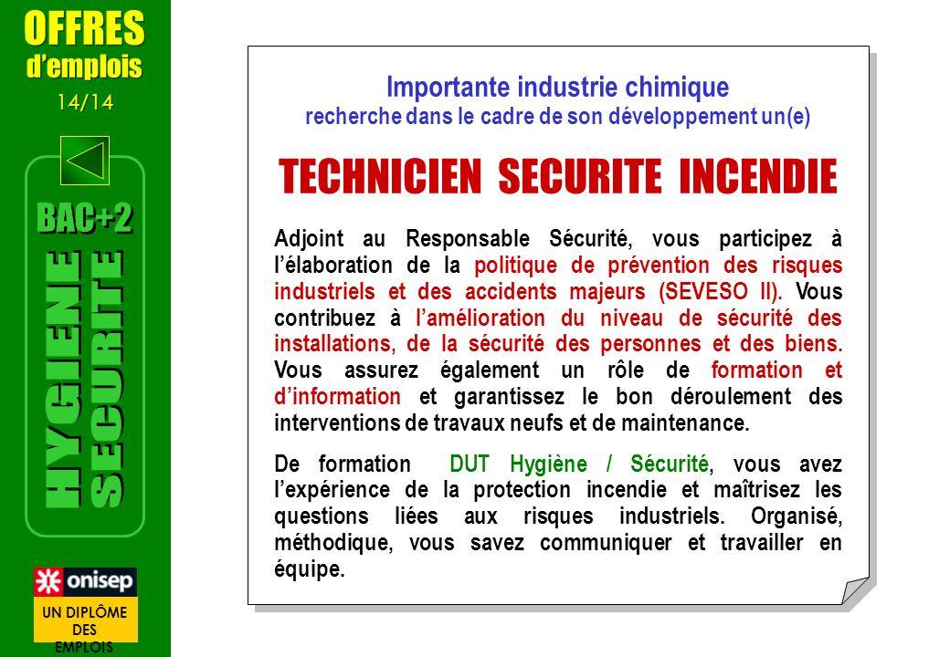 TECHNICIEN SECURITE INCENDIE