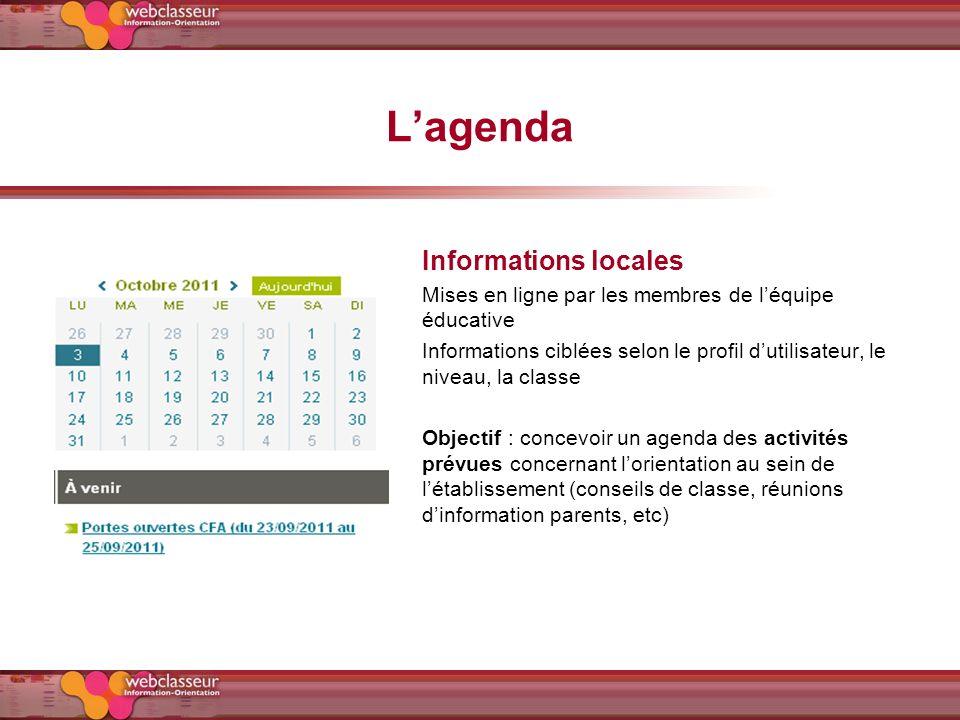 L'agenda Informations locales