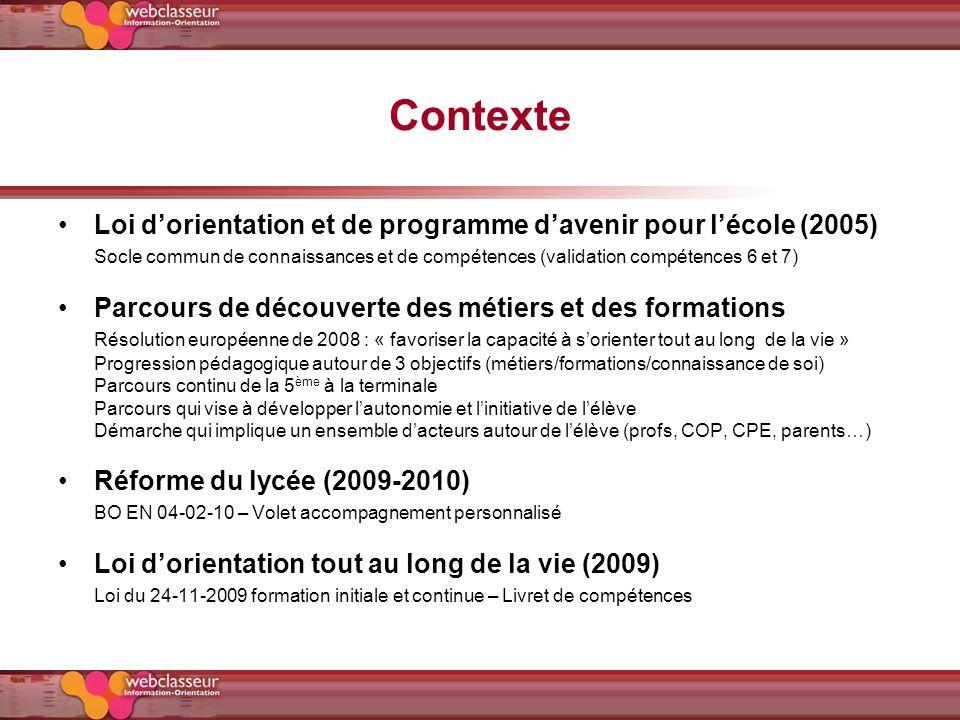 Contexte Loi d'orientation et de programme d'avenir pour l'école (2005)