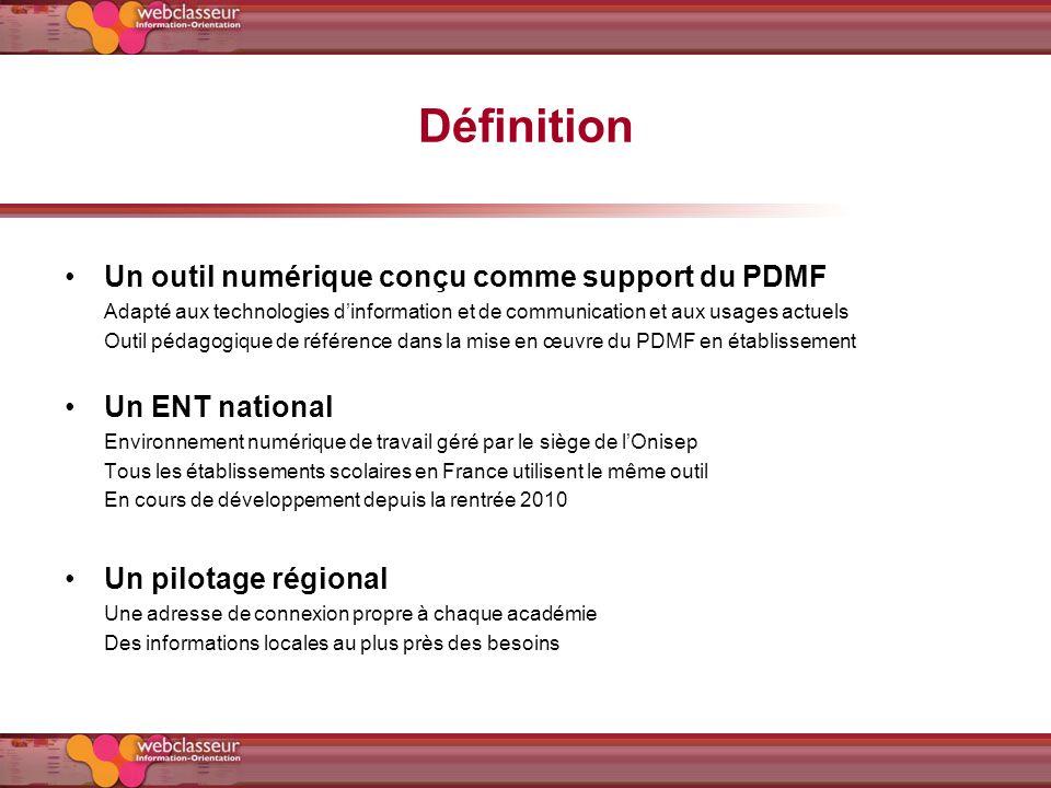 Définition Un outil numérique conçu comme support du PDMF