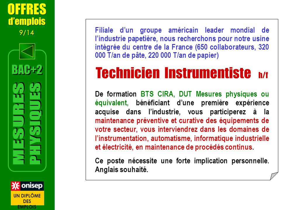 Technicien Instrumentiste h/f