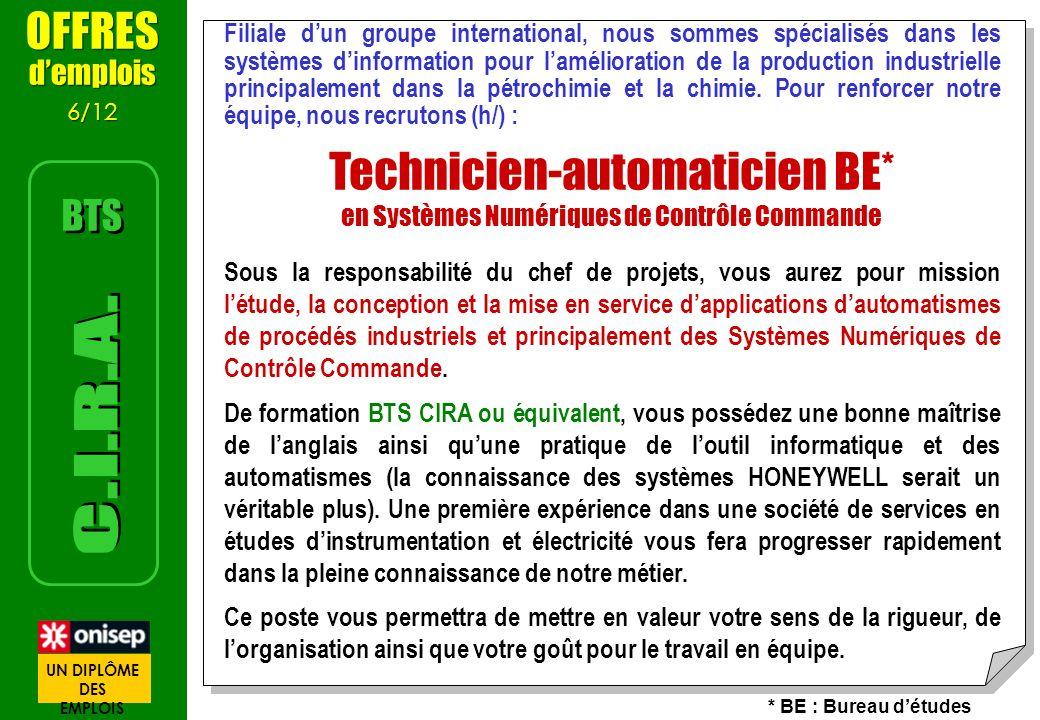 Technicien-automaticien BE*