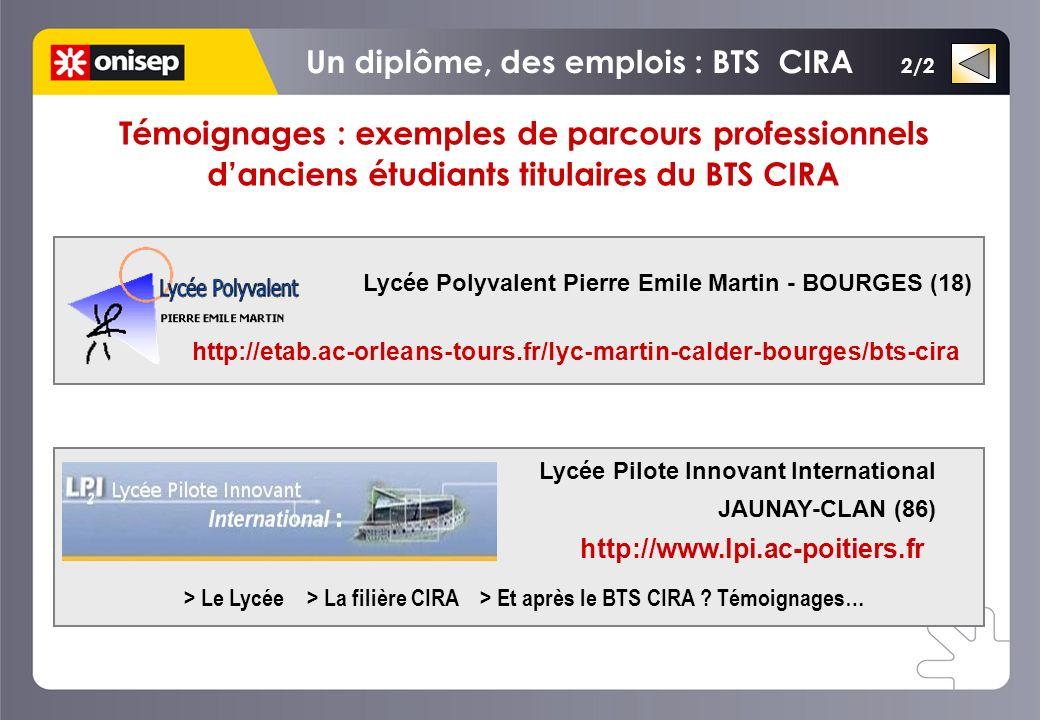 Un diplôme, des emplois : BTS CIRA