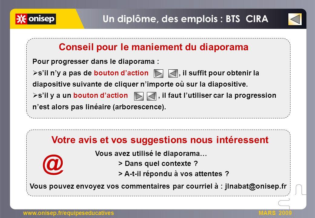 @ Un diplôme, des emplois : BTS CIRA