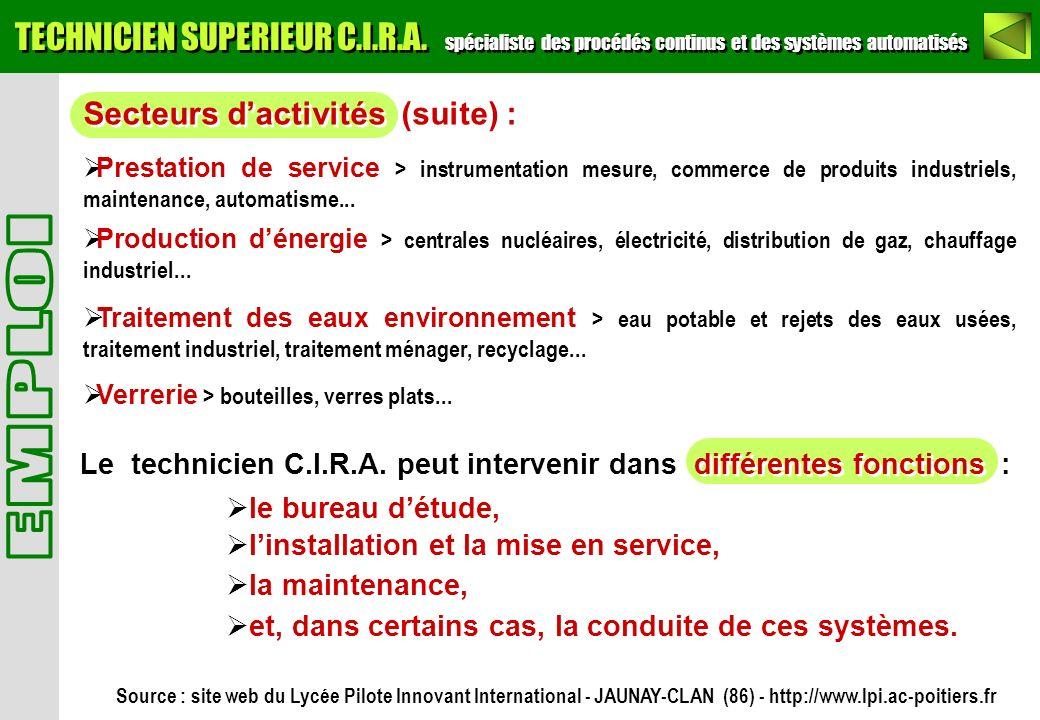 TECHNICIEN SUPERIEUR C. I. R. A