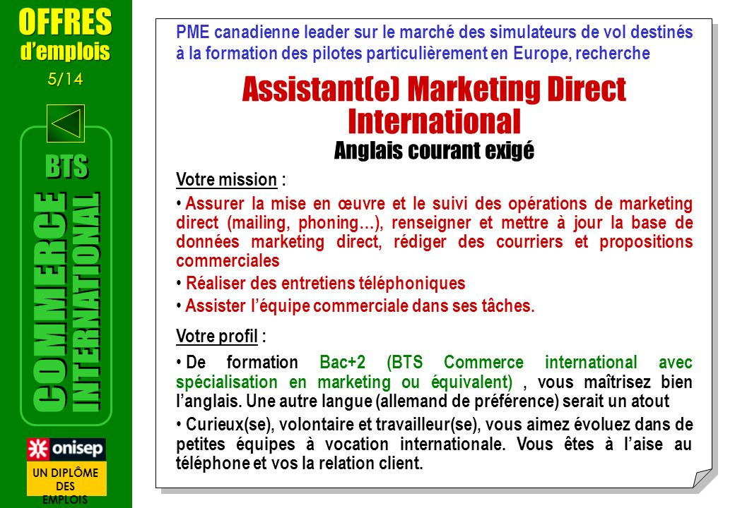 Assistant(e) Marketing Direct International